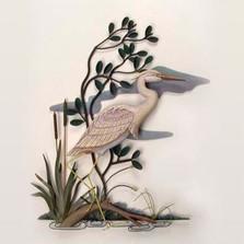 Heron Wall Sculpture Facing Right   TI Design   TICW280