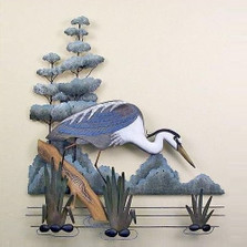 Stalking Great Blue Heron Wall Sculpture | TI Design | TICW592