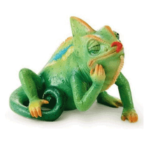Rain Forest Little Dwellers Lizard Figurine | Franz Porcelain