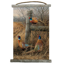 "Pheasant Canvas Wall Hanging ""Abandoned Fenceline"" 