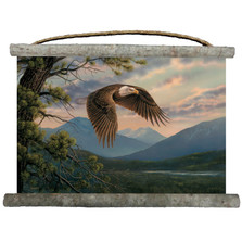"""Eagle Canvas Wall Hanging """"Majestic Moment""""   Wood Graphixs   WGWC2518"""