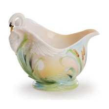 Southern Splendor Swan Creamer | fz02016 | Franz Porcelain Collection