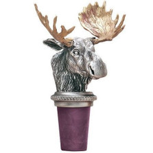 Moose Bottle Stopper | Heritage Pewter | HPIBS8538