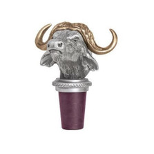 Cape Buffalo Bottle Stopper | Heritage Pewter | HPIBS8603