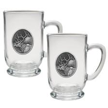 Elk Coffee Mug Set of 2 | Heritage Pewter | HPICM203CL