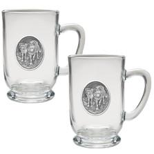 Wolf Coffee Mug Set of 2 | Heritage Pewter | HPICM205CL