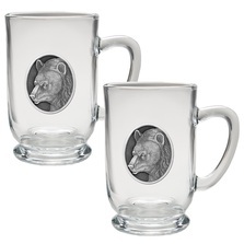 Black Bear Coffee Mug Set of 2 | Heritage Pewter | HPICM218CL