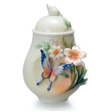 Fluttering Beauty Butterfly Sugar Jar | FZ02036 | Franz Porcelain Collection