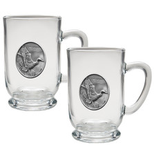 Mallard Coffee Mug Set of 2 | Heritage Pewter | HPICM223CL