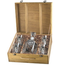 Whitetail Deer Decanter Set | Heritage Pewter | HPICPTB114