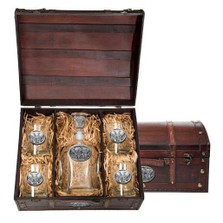 Elephant Decanter Chest Set | Heritage Pewter | HPICPTC120