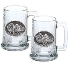 Buffalo Stein Set of 2 | Heritage Pewter | HPIST101