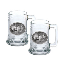 Moose Stein Set of 2 | Heritage Pewter | HPIST103