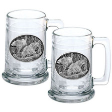 Black Bear Stein Set of 2 | Heritage Pewter | HPIST113
