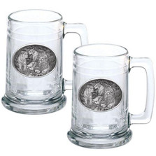 Lion Stein Set of 2 | Heritage Pewter | HPIST119