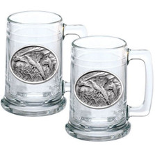 Pheasant Stein Set of 2 | Heritage Pewter | HPIST123