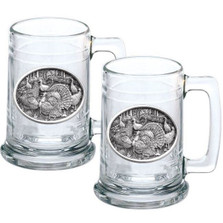 Turkey Stein Set of 2 | Heritage Pewter | HPIST124