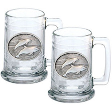 Dolphin Stein Set of 2 | Heritage Pewter | HPIST135