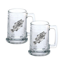 Bass Pewter and Glass Stein Set of 2 | Heritage Pewter | HPIST4033