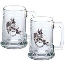 Quarter Horse Stein Set of 2   Heritage Pewter   HPIST4094