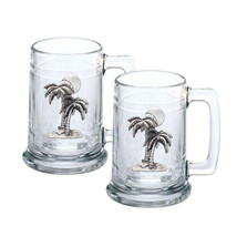Palm Tree Stein Set of 2 | Heritage Pewter | HPIST4216