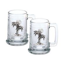 Palm Tree Stein Set of 2 | Heritage Pewter | HPIST4216