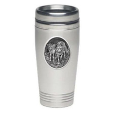 Wolf Thermal Travel Mug | Heritage Pewter | HPITD205