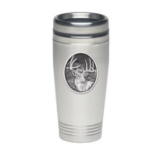 Whitetail Deer Thermal Travel Mug | Heritage Pewter | HPITD209