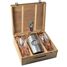 Grizzly Bear Wine Set | Heritage Pewter | HPIWSB105