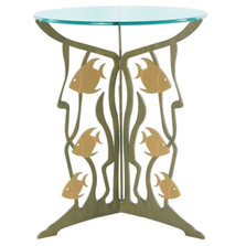Fish Glass Top Table | Cricket Forge | T011