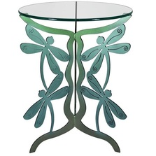 Dragonfly Glass Top Table | Cricket Forge | T025