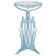 Cattails Pedestal Bird Bath | Cricket Forge | P002-G008