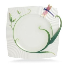 Peace and Harmony Bamboo Square Plate | FZ02125 | Franz Porcelain Collection