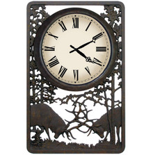 Battling Bull Deer Outdoor Clock | Painted Sky | PSCLK-BB