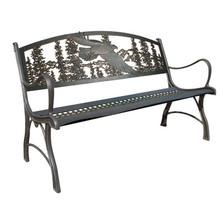 Eagle Cast Iron Garden Bench | Painted Sky | PSPB-EAG-100BR