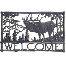 Elk Welcome Sign | Painted Sky | PSWS-EK