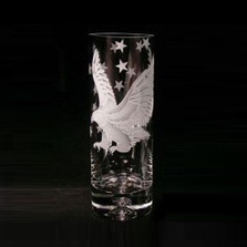Eagle Crystal Vase | Evergreen Crystal | EC1318007