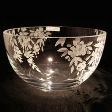 Cherry Blossom Crystal Bowl | Evergreen Crystal | ECbowl