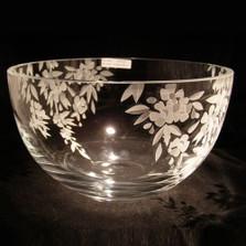 Cherry Blossom Crystal Bowl | Evergreen Crystal | ECbowl