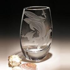 Dolphin Kyoto Crystal Vase | Evergreen Crystal | ECDOLKYOTO