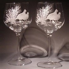 Bob White Crystal 18 oz. Wine Glass Set of 2 | Evergreen Crystal | eci115a