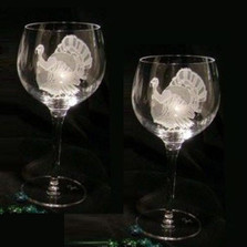 Turkey Crystal 13 oz Wine Glass Set of 2 | Evergreen Crystal | ECI115T