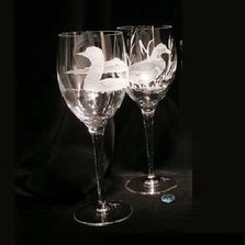 Mallard Crystal 13 oz Wine Glass Set of 2 | Evergreen Crystal | ECI116a