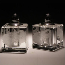 Elephant Crystal Salt Pepper Shakers | Evergreen Crystal | ECTR30-512