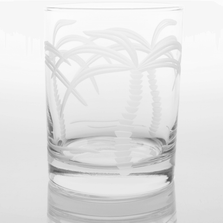 Palm Tree Double Old Fashioned Glass Set of 4 | Rolf Glass | ROL203003