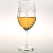 Palm Tree White Wine Glass Set of 4 | Rolf Glass | ROL203423