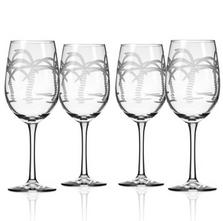 Palm Tree White Wine Glass Set of 4 | Rolf Glass | 203423