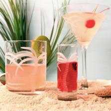 Palm Tree Martini Glass Set of 4 | Rolf Glass | 203133