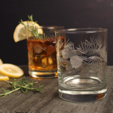 Icy Pine Double Old Fashioned Glass Set of 4 | Rolf Glass | ROL207001 -3
