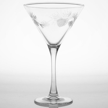Icy Pine Martini Glass Set of 4 | Rolf Glass | ROL207131